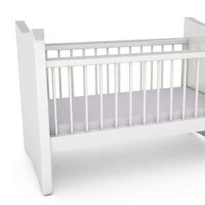 Organic Bamboo Cot Sheet Set - Silver Shimmer