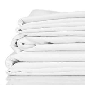 Organic Bamboo Cot Sheet Set White