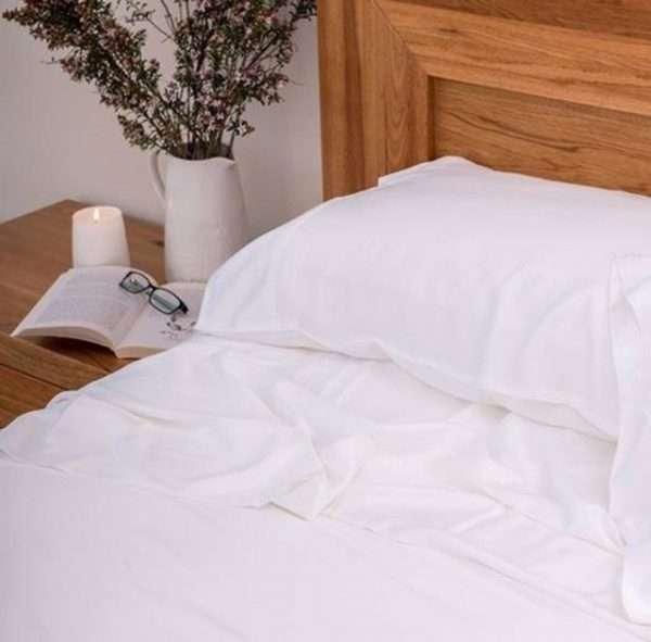 100% Organic Bamboo Sheet Set White