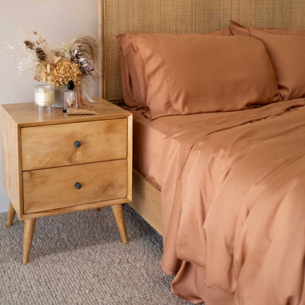 Organic Bamboo Quilt Cover Set Rust