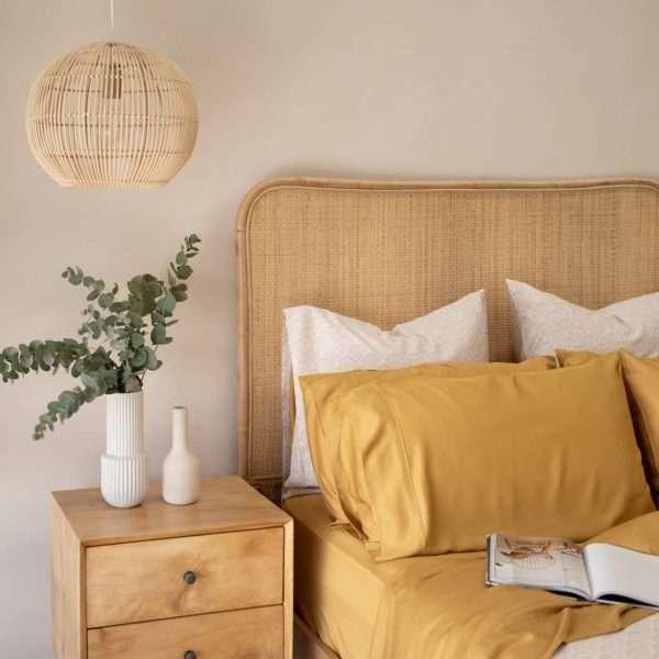 Organic Bamboo Sheet Set Mustard