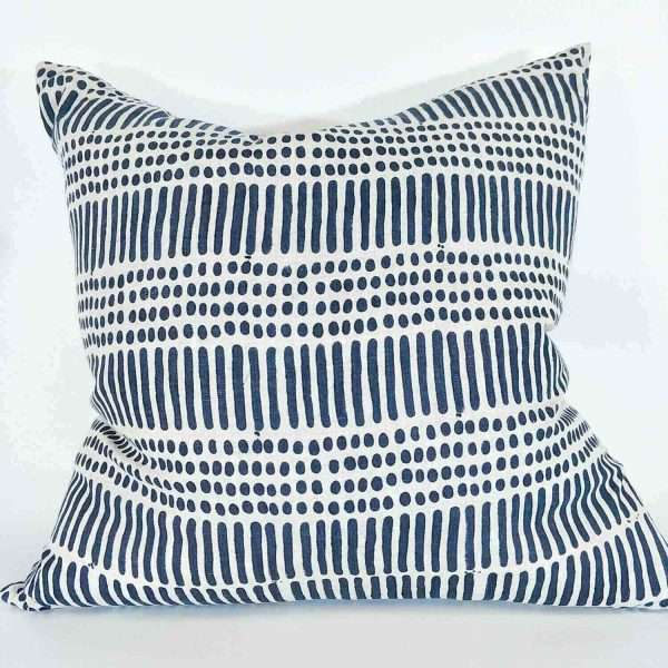 Kimpton French Linen Cushion Heavy Weight Teal Natural