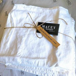 Pure French Linen Sheet Set Heavy Weight 200gsm White