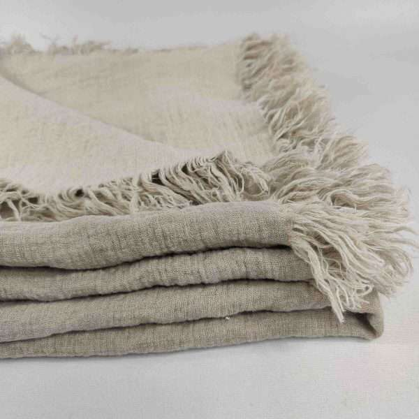 Pure French Linen Throw