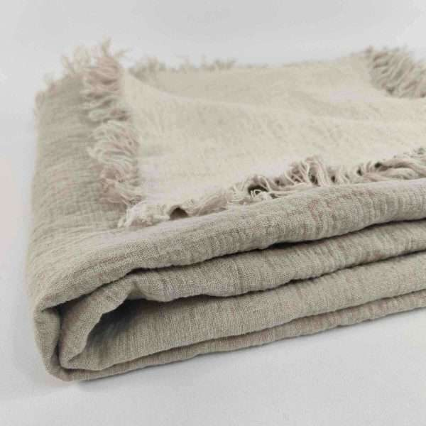 Pure French Linen Throw Two Tone