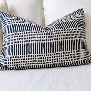 Kimpton French Linen Cushion Artisan Block Printed Teal