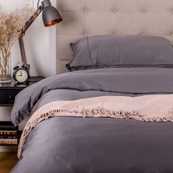 bamboo quilt cover set charcoal