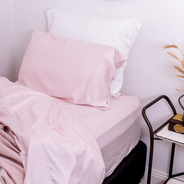 bamboo sheet set blush