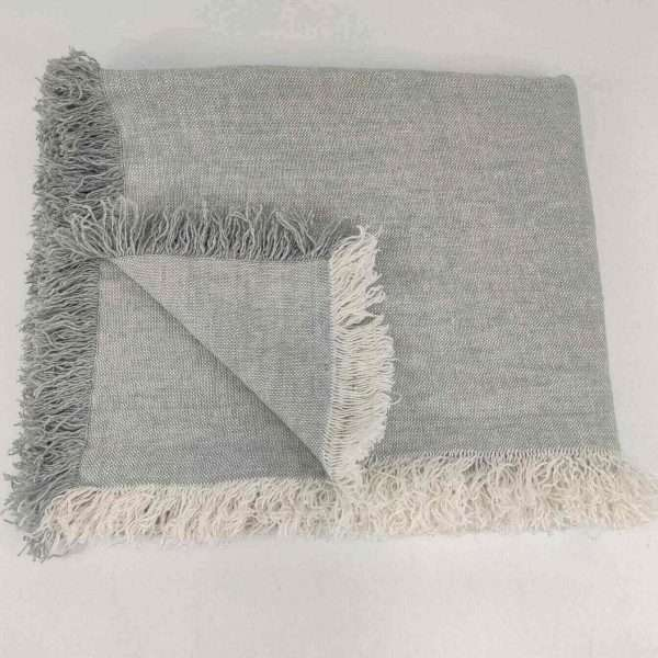 Cultiver Pure French Linen Throw Powder Blue