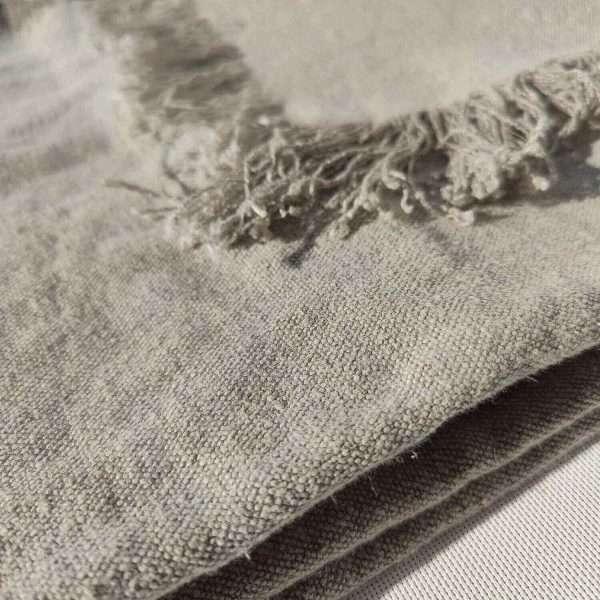 Matera French Linen Throw Limestone
