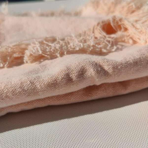 Matera French Linen Throw Opal Pink