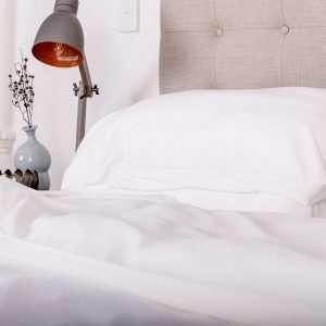 bamboo pillowcase set white