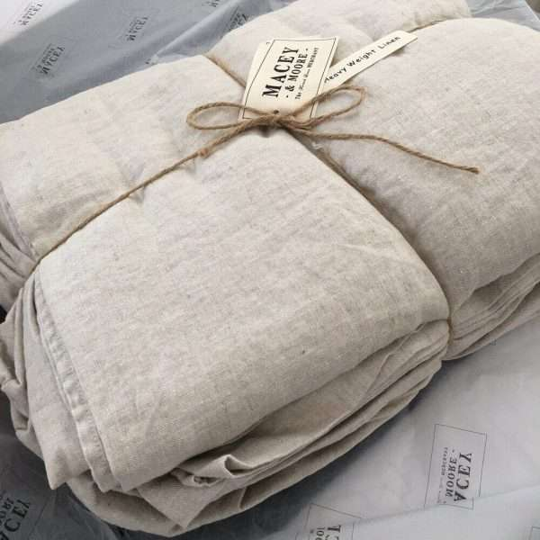 French linen sheet set heavy weight 200gsm Natural