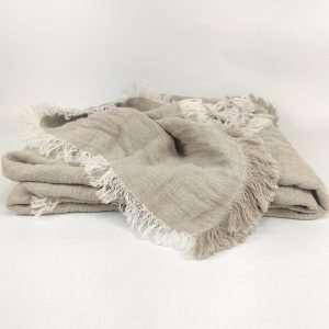 Hygge 100% Hemp Throw Bedcover 230cm x 300cm Natural