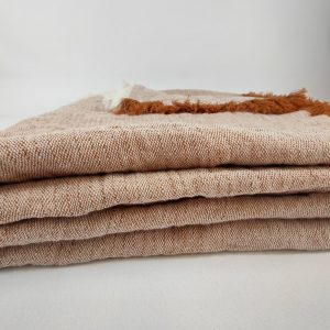 Hygge 100% Hemp Throw Bedcover 230cm x 300cm Sandalwood