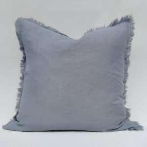 French Linen Cushion Slate Grey